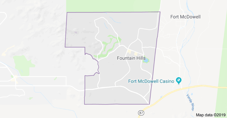 Car Key Replacement Fountain Hills Service Area Map