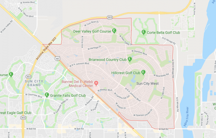 Car Key Replacement Sun City West Service Area Map